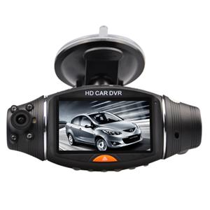 Car DVR Dual Camcorder with GPS Module, Double Cameras car blackbox