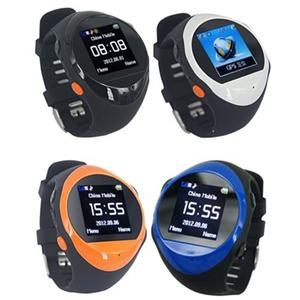 Real-Time GPS GSM Tracker Hand Watch phone with Long Time Battery  for Children and Elderly