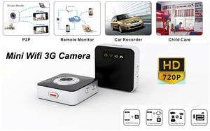 720P HD Wifi 3G mini camera DVR home security Wireless monitor by iphone and android