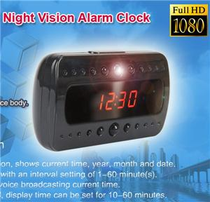 Real HD 1080P Spy Led Table Clock LED IR video hidden Camera Remote Control