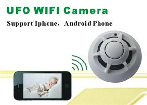 Mini Wifi Spy Hidden Cameras in Smoke Detecto DVR Home security monitor by Phone remote control