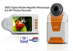 Portable Digital Mobile Magnifier Microscope 500X Handheld for Lab / industry /Quality Control 8.0 MP