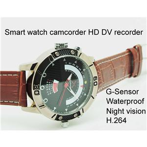 Smart Camera Watch HD LED Night Vision Waterpoof G Sensor 4GB - 32GB