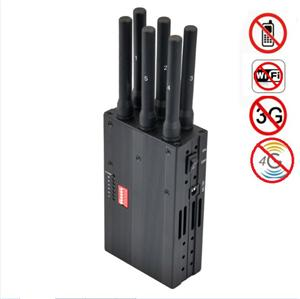 Portable 4G Jammer block mobile cell phone CDMA GSM GPS 3G Wifi LOJACK